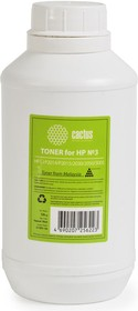 Тонер CACTUS CS-THP3-120, для HP LJ P2014/P2015/ 2030/2050/3005, черный, 120грамм, флакон