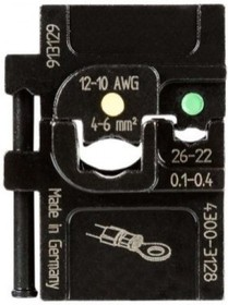 PM-4300-3128, Матрица для опрессовки изолированных наконечников: 0.1-0.4 мм2 и 4-6 мм2