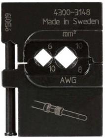 PM-4300-3148, Матрица для опрессовки контактов D-sub: 6 мм2, 10 мм2