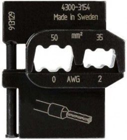 PM-4300-3154, Матрица для опрессовки втулочных наконечников: 50 мм2, 35 мм2