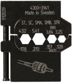 PM-4300-3141, Матрица для опрессовки оптических разъёмов: 3.25 мм, 3.84 мм, 4.52 мм, 5.41 мм