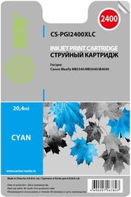 Картридж CACTUS CS-PGI2400XLC голубой