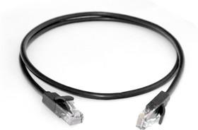 GCR-LNC06-40.0m, GCR Патч-корд прямой 40.0m UTP кат.5e, черный, позолоченные контакты, 24 AWG, литой, ethernet high s