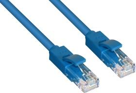 Фото 1/2 GCR-LNC01-5.0m, GCR Патч-корд прямой 5.0m UTP кат.5e, синий, позолоченные контакты, 24 AWG, литой, ethernet high spe