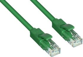 Фото 1/2 GCR-LNC605-5.0m, GCR Патч-корд прямой 5.0m UTP кат.6, зеленый, 24 AWG, литой, ethernet high speed, RJ45, T568B