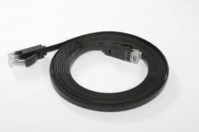 GCR-LNC616-0.15m, Патч-корд плоский прямой 0.15m UTP медь, кат.6, позолоченные контакты, 30 AWG, Premium Greenconnect