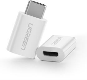 UG-30391, Переходник USB type C - micro USB, AM/AF, черный