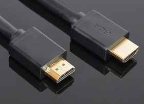 GCR-HM410-0.3m, GCR Кабель 0.3m HDMI 1.4, 30/30 AWG, позолоченные контакты, FullHD, Ethernet 10.2 Гбит/с, 3D, 4K, эк
