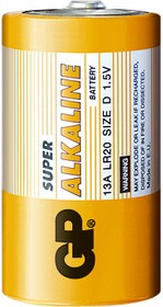 Батарейки GP Super Alkaline D (LR20), 2 шт. (13A-OS2) (упаковка из 2)