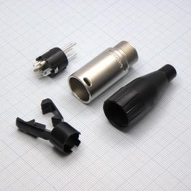 XLR 4M каб. черн. d=3-6.5мм (Amphenol)