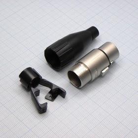 XLR 4F каб. черн. d=3-6.5мм, Amphenol
