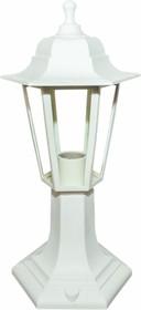 11-97 НТУ 06-60-001 ОСКАР1 БЕЛ Светильник-фонарь напольный белый 6-гранный прозрачное стекло