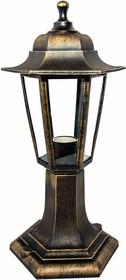 11-97 НТУ 06-60-001 ОСКАР1 БР Светильник-фонарь напольный бронза 6-гранный прозрачное стекло