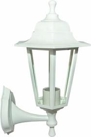 11-99 НБУ 06-60-001 ЛЕДА1 БЕЛ Светильник-фонарь настенный белый 6-гранный прозрачное стекло