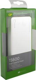 3C15AWE (белый), Внешний аккумулятор портативный, Power Bank (15600mAh) USB-micro USB, 2.1A