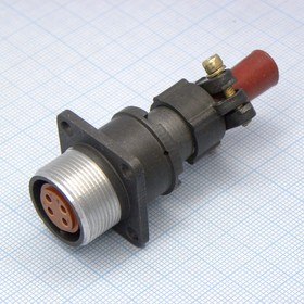 2РМДТ18БПН4Г5В1В, Розетка на блок с прямым патрубком для неэкранированного кабеля