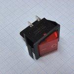 Фото 2/2 IRS-201-1A3 (красный), Переключатель с подсветкой ON-OFF (15A 250VAC) DPST 4P