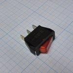 Фото 2/2 IRS-101-1A3 (красный), Переключатель с подсветкой ON-OFF (15A 250VAC) SPST 3P