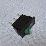 Фото 2/2 IRS-101-2B3 (зеленый), Переключатель с подсветкой ON-OFF (15A 250VAC) SPST 3P