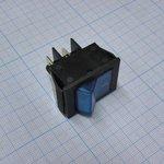 Фото 2/2 IRS-201-2B3 (синий), Переключатель с подсветкой ON-OFF (15A 250VAC) DPST 4P