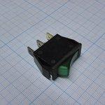 Фото 2/2 IRS-101-1C3D (зеленый), Переключатель с подсветкой ON-OFF (15A 250VAC, 20A 12VDC) SPST 3P