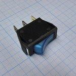 Фото 2/2 IRS-101-1C3D (синий), Переключатель с подсветкой ON-OFF (15A 250VAC) SPST 3P