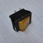 Фото 2/2 IRS-201-1A3 (желтый), Переключатель с подсветкой ON-OFF (15A 250VAC) DPST 4P