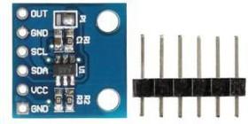 Фото 1/4 MCP4725 DAC module I2C interface DA conversion