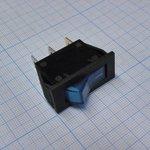 Фото 2/2 IRS-101-2B3 (синий), Переключатель с подсветкой ON-OFF (15A 250VAC) SPST 3P