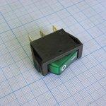 Фото 2/2 IRS-101-1A3 (зеленый), Переключатель с подсветкой ON-OFF (15A 250VAC) SPST 3P