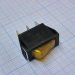 Фото 2/2 IRS-101-1A3 (желтый), Переключатель с подсветкой ON-OFF (15A 250VAC) SPST 3P