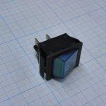 Фото 2/2 IRS-201-1A3 (синий), Переключатель с подсветкой ON-OFF (15A 250VAC) DPST 4P
