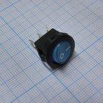 Фото 2/2 SMRS-102-2C3-BL, Переключатель ON-ON (3A 250VAC) SPDT 3P, синяя клавиша
