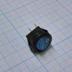 Фото 2/2 SMRS-101-2C3-BL, Переключатель ON-OFF (3A 250VAC) SPST 2P, синяя клавиша