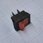 Фото 2/2 IRS-201-2B3 (красный), Переключатель с подсветкой ON-OFF (15A 250VAC) DPST 4P