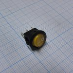 Фото 2/2 SMRS-102-2C3-Y, Переключатель ON-ON (3A 250VAC) SPDT 3P, желтая клавиша