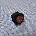 Фото 2/2 SMRS-102-2C3-R, Переключатель ON-ON (3A 250VAC) SPDT 3P, красная клавиша