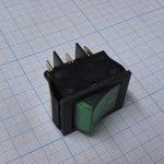 Фото 2/2 IRS-202-2C7 (зеленый), Переключатель с подсветкой ON-ON (15A 250VAC) DPDT 6P