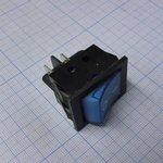 Фото 2/2 IRS-201-3C3 (синий), Переключатель с подсветкой ON-OFF (15A 250VAC) DPST 4P