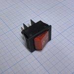 Фото 2/2 IRS-201-2A3 (красный), Переключатель с подсветкой ON-OFF (15A 250VAC) DPST 4P