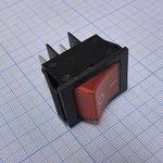 Фото 2/2 IRS-201-2C3 (красный), Переключатель с подсветкой ON-OFF (15A 250VAC) DPST 4P