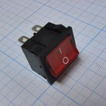 Фото 2/2 MIRS-202A-4C3 (красный), Переключатель 6pin ON-ON (10A 125VAC, 6A 250V, 15A 12VDC)