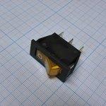 Фото 2/2 IRS-101-2B3 (желтый), Переключатель с подсветкой ON-OFF (15A 250VAC) SPST 3P
