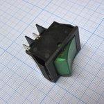 Фото 2/2 IRS-201-2C3 (зеленый), Переключатель с подсветкой ON-OFF (15A 250VAC) DPST 4P