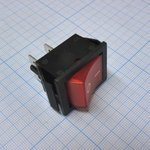 Фото 2/2 IRS-201-1C3 (красный), Переключатель с подсветкой ON-OFF (15A 250VAC) DPST 4P