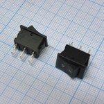 Фото 2/2 SMRS-102-1C3-B, Переключатель ON-ON (1A 250VAC) SPDT 3P, черная клавиша