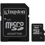Фото 2/2 Карта памяти microSDHC KINGSTON 8 ГБ, Class 4, SDC4/8Gb, 1 шт., переходник SD