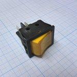 Фото 2/2 IRS-201-6C3D (желтый), Переключатель с подсветкой ON-OFF (15A 250VAC, 20A-12VDC) DPST 4P