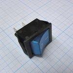 Фото 2/2 IRS-201-1C3D (синий), Переключатель с подсветкой ON-OFF (15A 250VAC, 20A 12VDC) DPST 4P