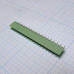 2EDGV-5.08-18P-14-00A, Клеммник разъемный, 18 контактный, шаг 5.08 мм, зеленый